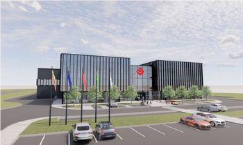 """""""KG Constructions Group"""" aliuminio-stiklo konstrukcijų gamyklą statys """"Conresta"""""""