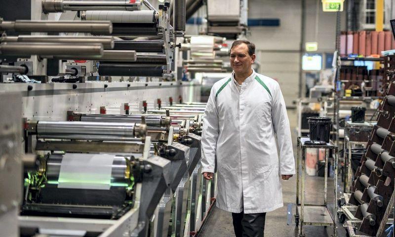 """Virginijus Gumbaragis, Baltijos šalyse pirmaujančios produktų etikečių spausdinimo, inžinerinių pakavimo-pilstymo įrengimų gamybos bendrovės """"PakMarkas"""" vadovas."""