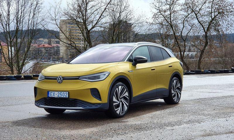 """VW ID.4, """"Pasaulio metų automobilis 2021"""". Lino Butkaus (VŽ) nuotr."""