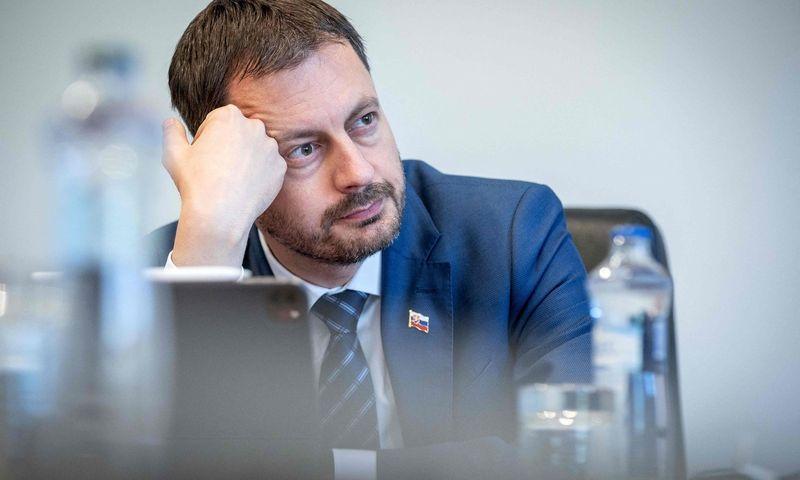 """Slovakijos ministras pirmininkas Eduardas Hegeris.  Tomo Benedikovic (AFP / """"Scanpix"""") nuotr."""