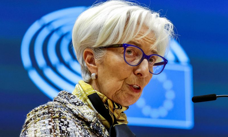 "Christine Lagarde, ECB vadovė. Olivier Matthys (""Pool""/ ""Reuters"" / ""Scanpix"") nuotr."