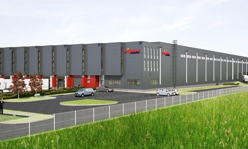"""Naujasis """"Vilpros"""" logistikos centras. Įmonės vizualizacija."""