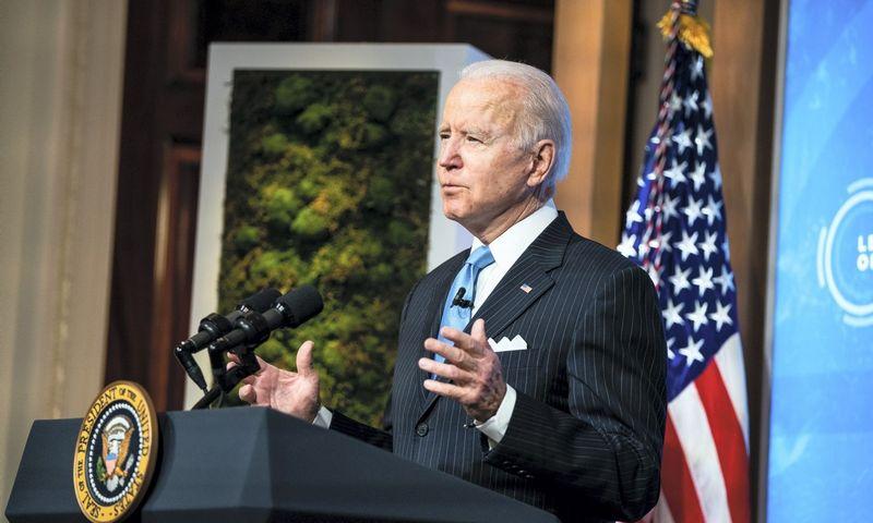 Joe Bidenas prezidentavimo 6imtadien5 paminės kalba JAV Kongrese. Anna Moneymaker (CNP/ZUMA Wire/Scanpix) nuotr.