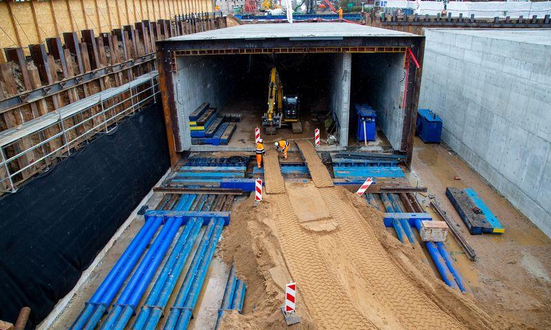 Lentvario pervažos rekonstrukcija. Tunelio statyba. Vladimiro Ivanovo (VŽ) nuotr.