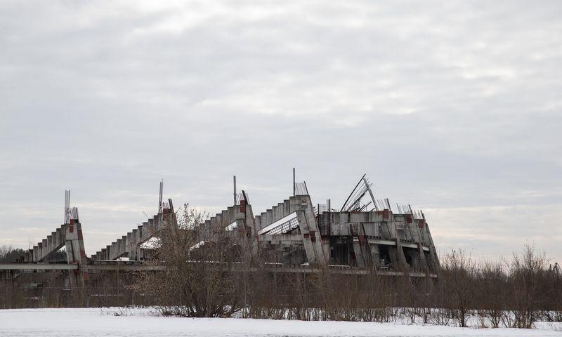 Nebaigtas statyti Nacionalinis stadionas Vilniuje. Vladimiro Ivanovo (VŽ) nuotr.