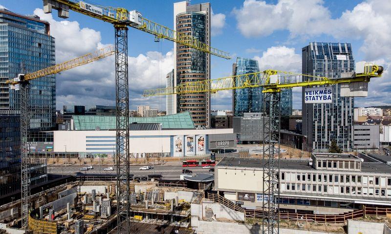 "D. Libeskindo komercinio komplekso ""Artery"" statybos Vilniuje. Vladimiro Ivanovo (VŽ) nuotr."