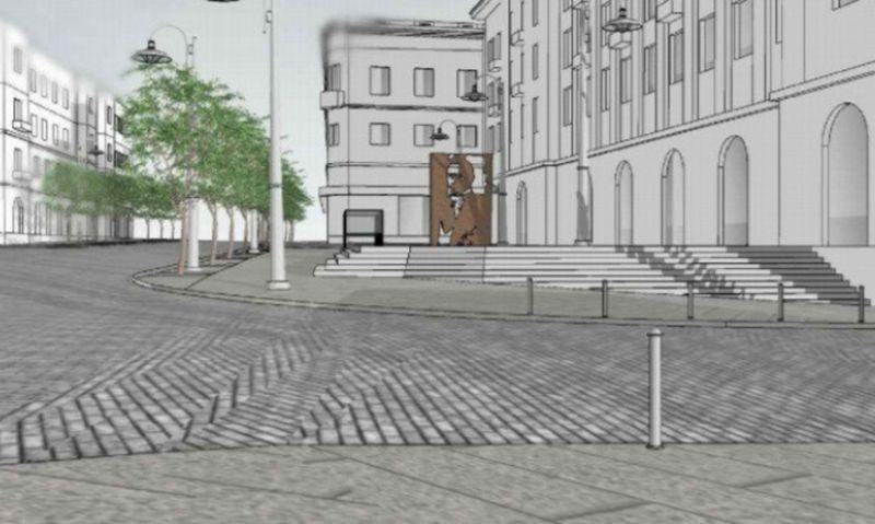 Vilniui nepatikusį paminklą A. Smetonai nori priimti Palanga. Projekto vizualizacija.