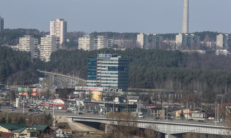 """Biurų pastatas """"Laisvės 3"""" Vilniuje. Vladimiro Ivanovo (VŽ) nuotr."""