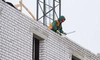 Statybos Latvijoje per metus pabrango 1,3%