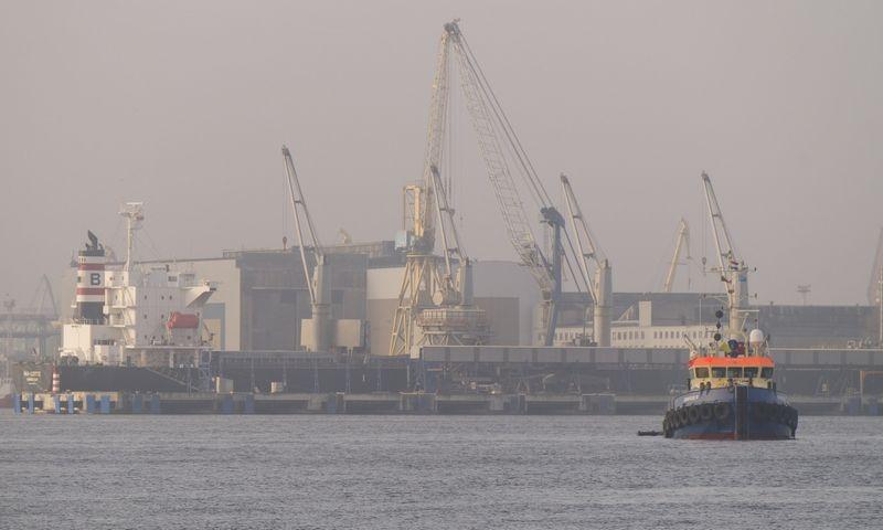 Klaipėdos uoste tęsiamos investicijų į infrastruktūrą programos. Algimanto Kalvaičio nuotr.