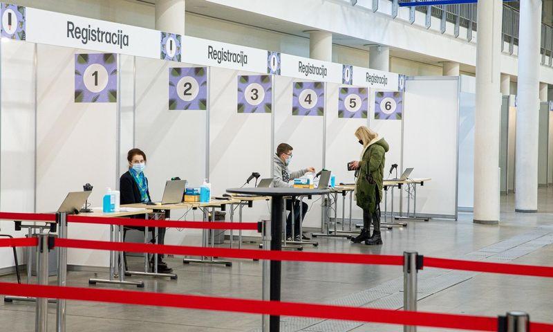 """Vakcinavimo centras """"Litexpo"""" parodų ir konferencijų centre. Juditos Grigelytės (VŽ) nuotr."""