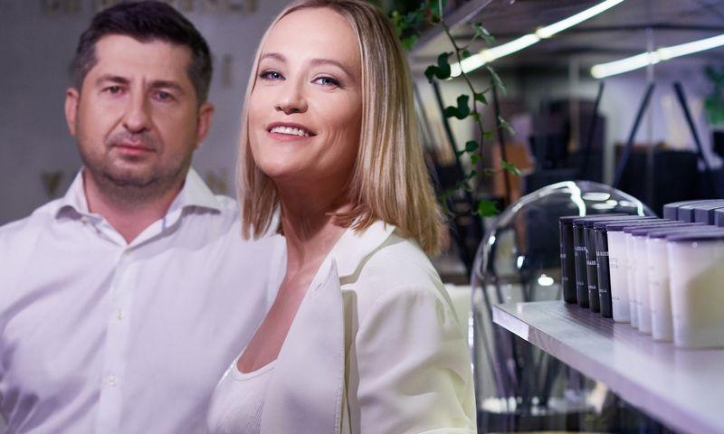 """Povilas ir Kristina Stroliai, UAB """"Krispo"""" bendratučiai. Įmonės nuotr."""