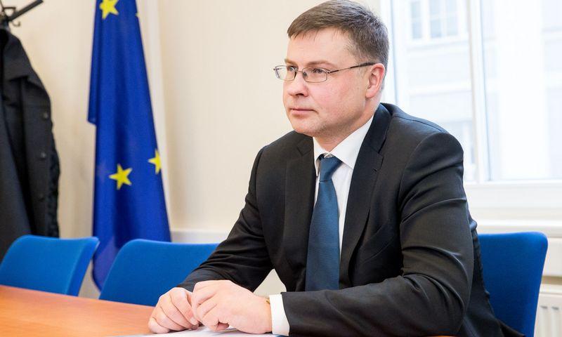Valdis Dombrovskis, Europos Komisijos pirmininkės pavaduotojas. Juditos Grigelytės (VŽ) nuotr.