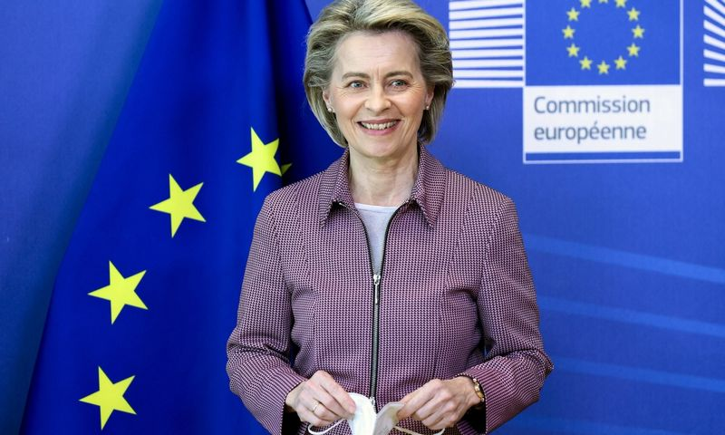 "Europos Komisijos vadovė Ursula von der Leyen. Kenzo Tribouillard (AP / ""Scanpix"") nuotr."