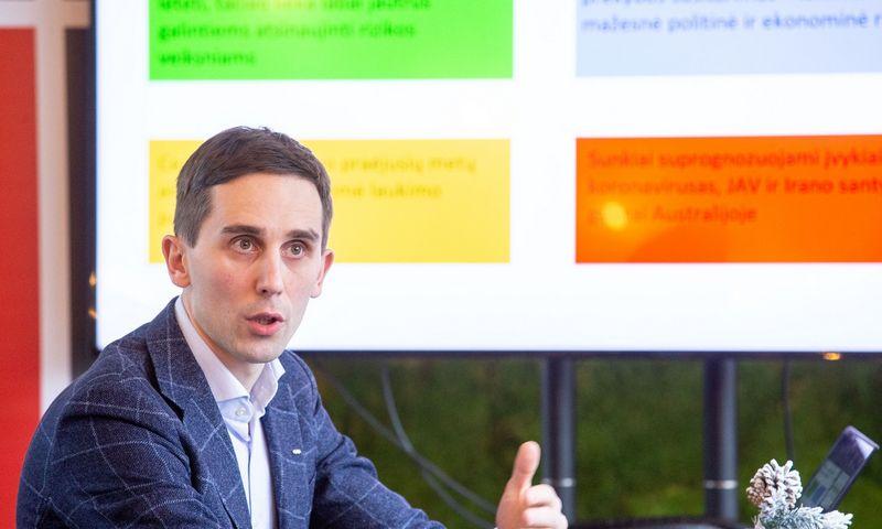 Tadas Povilauskas, SEB ekonomistas.  Juditos Grigelytės (VŽ) nuotr.