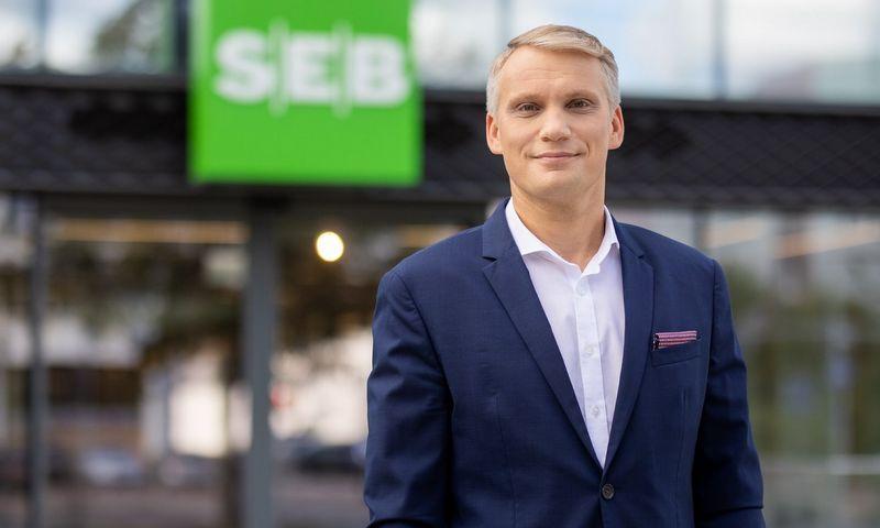 Vilius Juzikis, SEB banko valdybos narys ir Verslo bankininkystės tarnybos direktorius.
