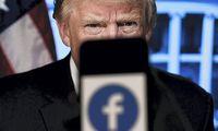 """""""Facebook"""" kol kas paliko draudimą D. Trumpui naudotis paskyra"""
