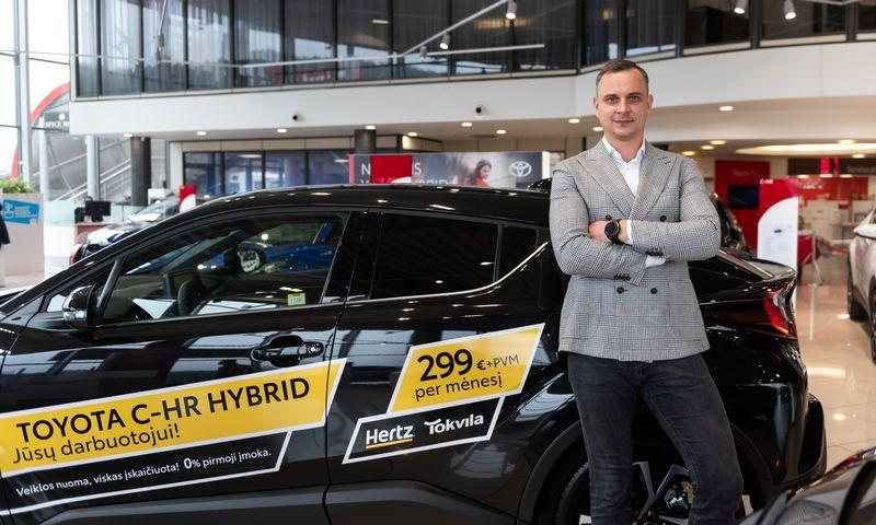 """Mantas Narkevičius, pasaulinės automobilių nuomos kompanijos atstovės Lietuvoje """"HERTZ Lietuva"""" vadovas."""