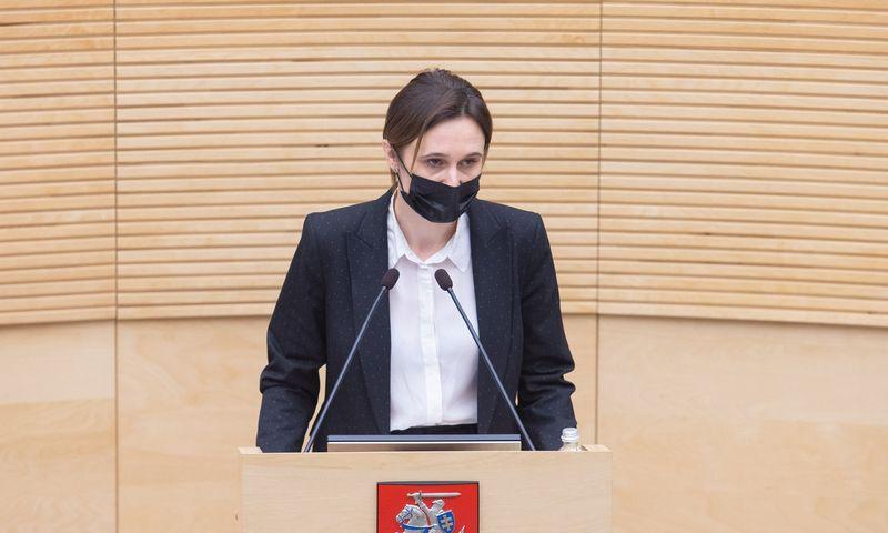 Viktorija Čmilytė-Nielsen, Seimo pirmininkė. Juditos Grigelytės (VŽ) nuotr.