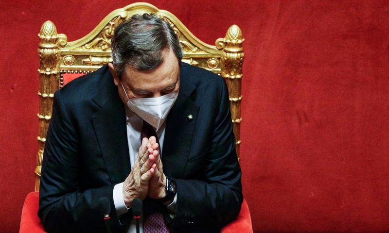 """Mario Draghi, Italijos premjeras. Gregorio Borgia (AFP / """"Scanpix"""") nuotr."""