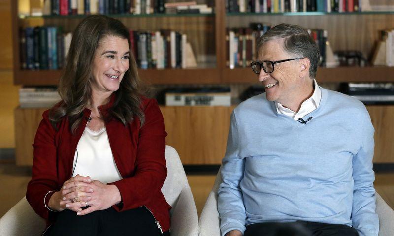 "Melinda ir Billas Gatesai. Elaine Thompson (AP / ""Scanpix"") nuotr."