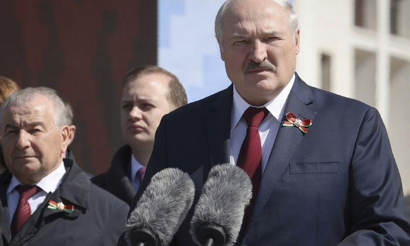 "Aliaksandras Lukašenka, neteisėtas Baltarusijos prezidentas. Maximo Gucheko (""BELTA/AP"") nuotr."