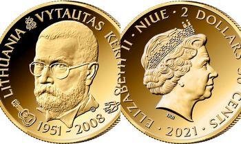 Proginėje Niujė salos monetoje įamžintas Vytautas Kernagis