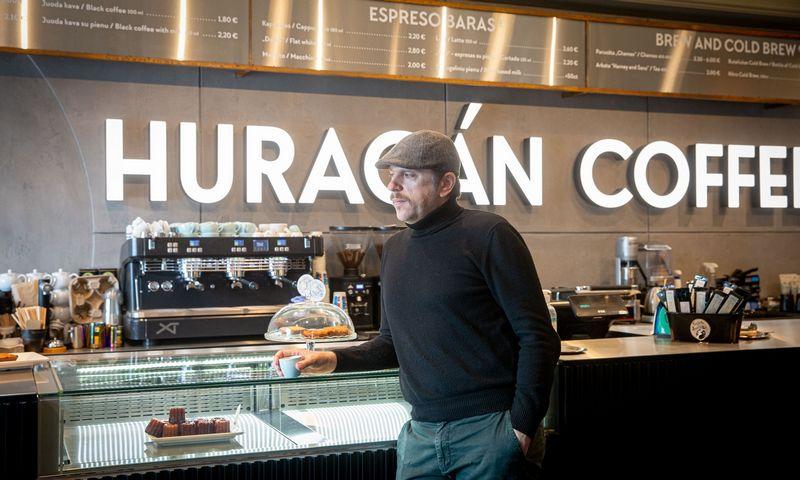 """Vytautas Kratulis, UAB """"Šviežia kava"""", valdančios kavinių tinklą """"Huracan Coffee"""", direktorius. Juditos Grigelytės (VŽ) nuotr."""