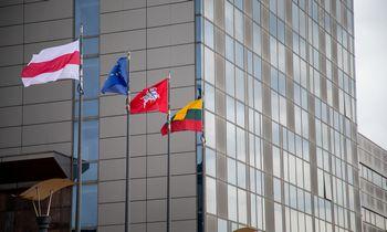Vilniusiškėlė istorinę Baltarusijos vėliavą