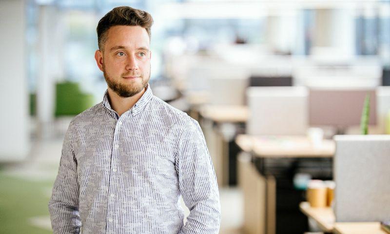 """Dominykas Maksimavičius, """"Tele2"""" verslo skyriaus pardavimų vadovas."""