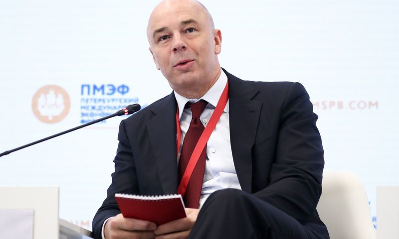 "Rusijos finansų ministras Antonas Siluanovas. Antono Novoderezhkino (TASS / ""Scanpix"") nuotr."