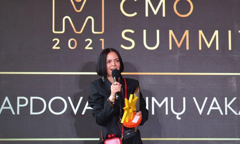"""""""Metų CMO'21"""" šį kartą pelnė """"Nord Security"""" rinkodaros vadovė Toma Sabaliauskienė. Organizatorių nuotr."""