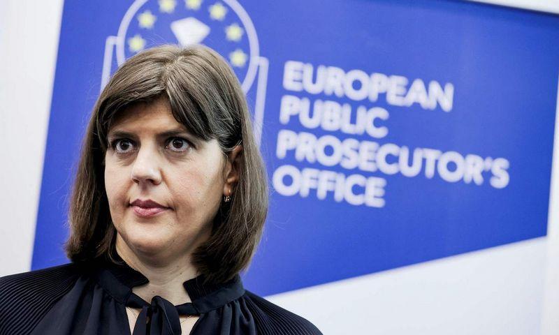 "Laura Codruta Kovesi, Europos prokuratūros vadovė. Kenzo Tribouillard (""AFP"" / ""Scanpix"") nuotr."
