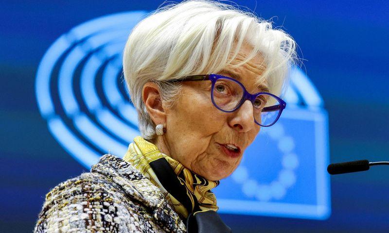 "ECB vadovė Christine Lagarde. Olivier Matthys (""Pool"" / ""Reuters"" / ""Scanpix"") nuotr."