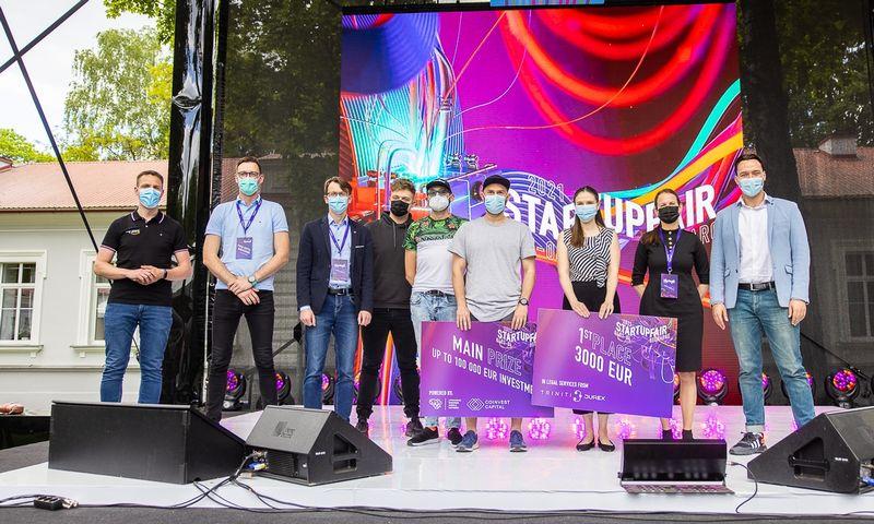 """""""Startup Fair"""" konkurso nugalėtojai. Organizatorių nuotr."""