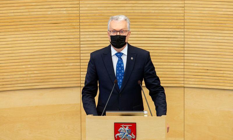 Prezidento Gitano Nausėdos metinis pranešimas Seime. Juditos Grigelytės (VŽ) nuotr.