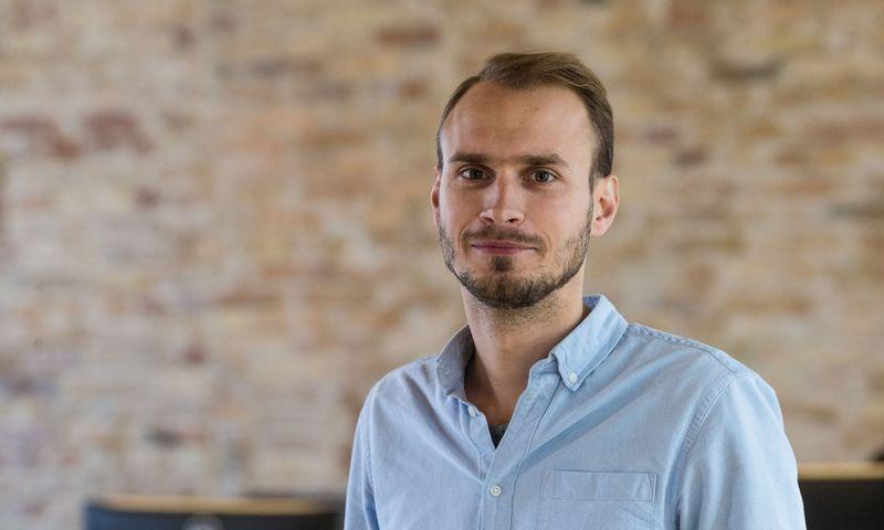 """Andrius Šlimas, vienas IT startuolio """"Oberlo"""" įkūrėjų. Vladimiro Ivanovo (VŽ) nuotr."""