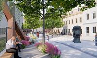Laikinai sustabdyti pėsčiųjų alėjos šalia Vilniaus MO muziejaus įrengimo darbai