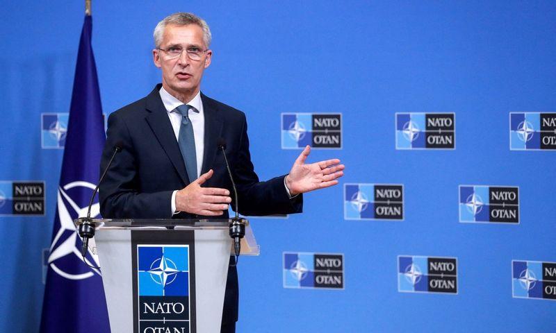 Jensas Stoltenbergas, NATO generalinis sekretorius, vadovaus Aljanso viršūnių susitikimui Briuselyje. Stephanie Lecocq (EPA/AFP/Scanpix) nuotr.