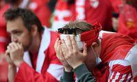 Danijos futbolininko būklė stabilizavosi, rungtynės tęsiamos
