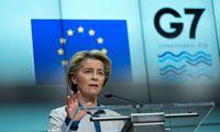 U. von der Leyen: G7 šalių bendradarbiavimas sustiprintų ES sankcijas Baltarusijai