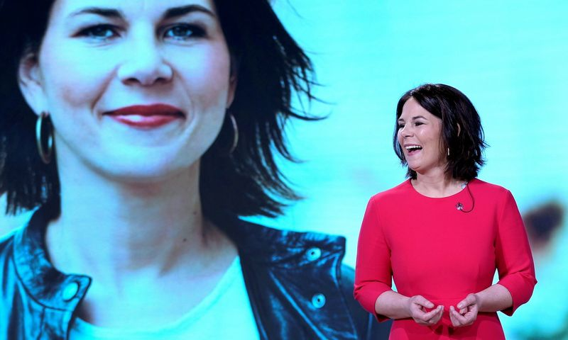 """Annalena Baerbock, Vokietijos Žaliųjų partijos kandidatė į kanclerius. Michael Sohn (""""Reuters"""" / """"Scanpix"""") nuotr."""
