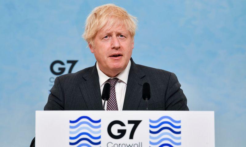 "Borisas Johnsonas, JK premjeras. Ben Stansall (AFP / ""Scanpix"") nuotr."
