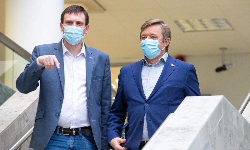 T. Tomilinas ir R. Karbauskis. Juditos Grigelytės (VŽ) nuotr.