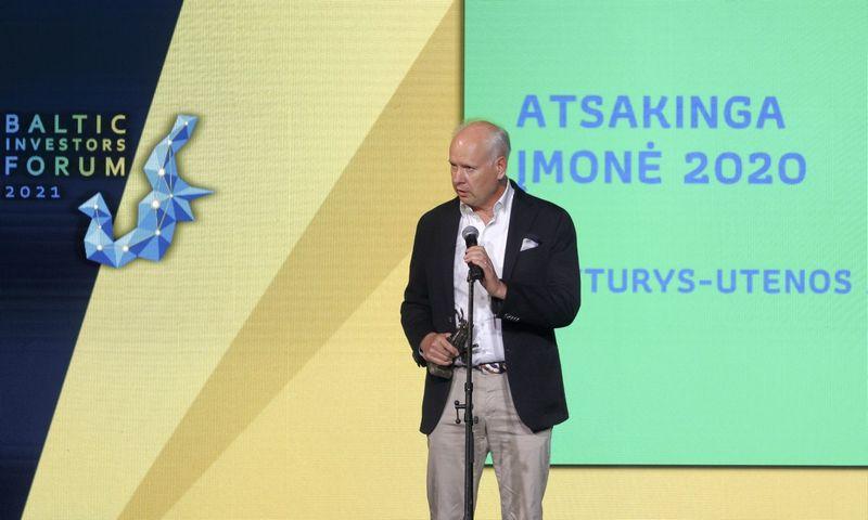 """""""Švyturio-Utenos alaus"""" ir """"Carlsberg"""" Baltijos šalyse vadovas Rolandas Viršilas pasidžiaugė, kad įmonės pastangos vykdyti verslą tvariai susilaukė pripažinimo."""