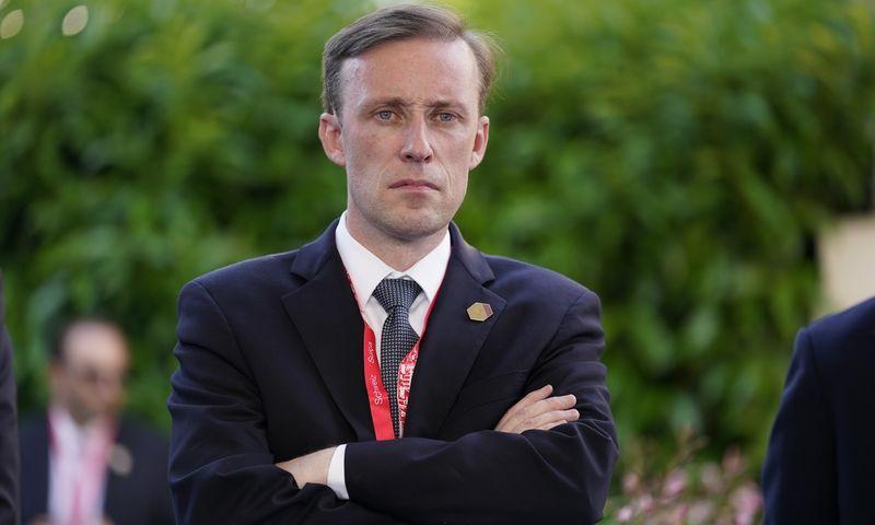"""JAV patarėjas nacionalinio saugumo klausimais Jake Sullivan. Patrick Semansky (AP/""""Scanpix"""") nuotr."""