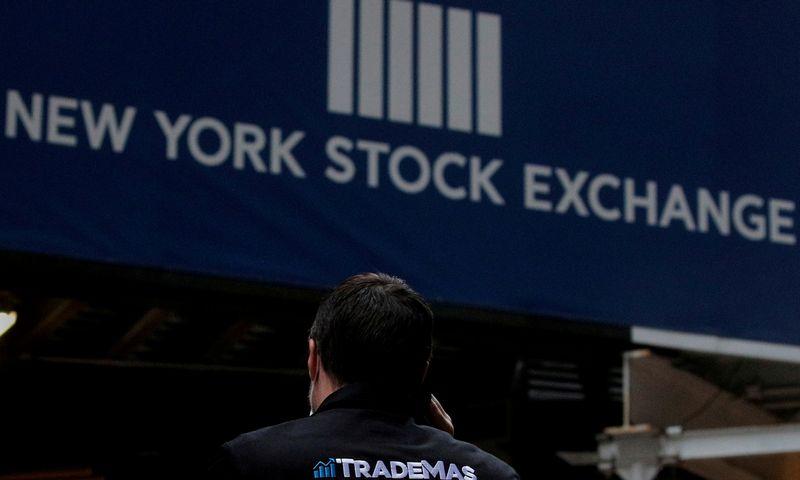 """Niujorko vertybinių popierių birža. Brendan McDermid ( """"Reuters""""/ """"File Photo""""/ """"Scanpix"""") nuotr."""