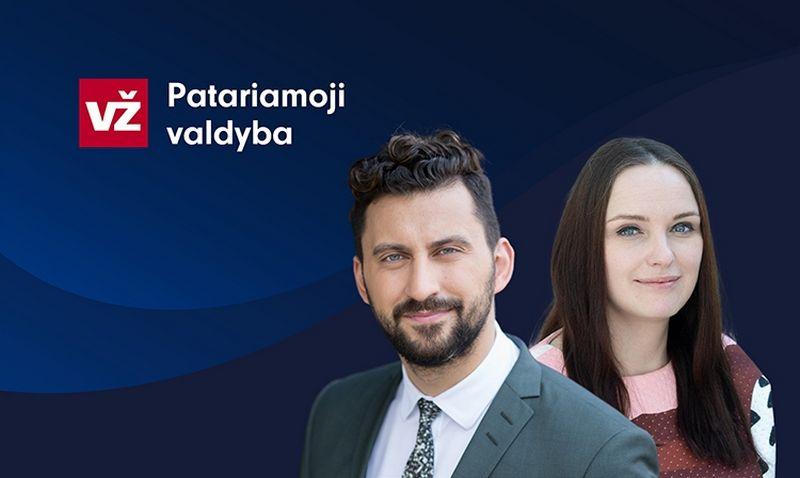 """Mindaugas Vanagas, Citus"""" įkūrėjas, ir Evelina Povilaitytė, """"Verslo žinių"""" Statybos ir nekilnojamojo turto rubrikos redaktorė. VŽ nuotr."""