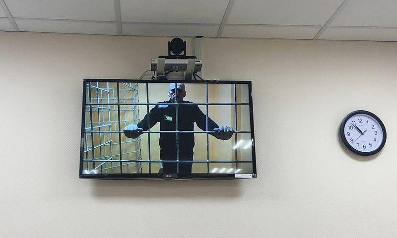 """Rusijoje toliau persekiojami kalinamo A. Navalno bendražygiai. Annos Ustinovos (TASS/""""Scanpix"""") nuotr."""