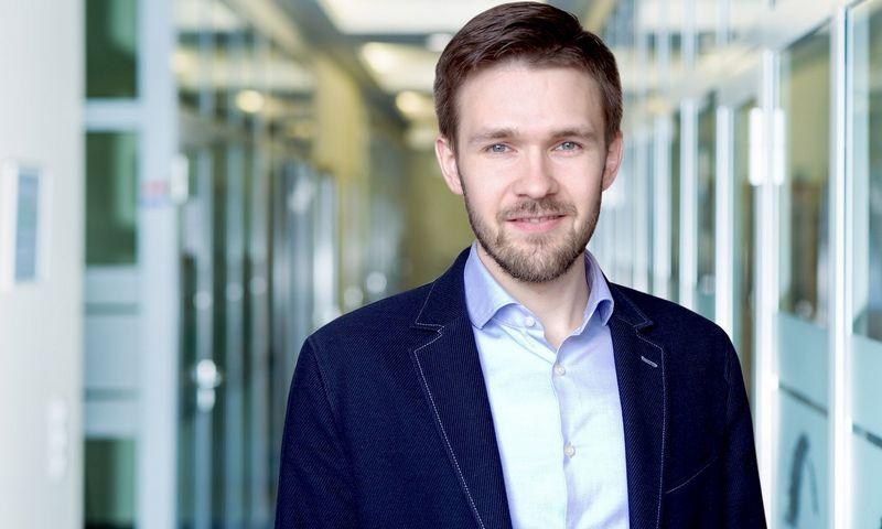 """""""Blue Bridge"""" produktų vystymo analitikas Tomas Vaškevičius."""